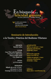 """SEMINARIO """"En Búsqueda de la Felicidad Genuina"""" @ Casa Tibet sede Monterrey"""